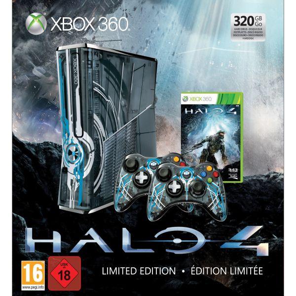 Xbox 360 Premium S 320GB (Halo 4 Limited Ed. - Použitý tovar, zmluvná záruka 12 mesiacov