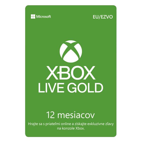 Xbox Live GOLD 12 mesačné predplatné CD-Key