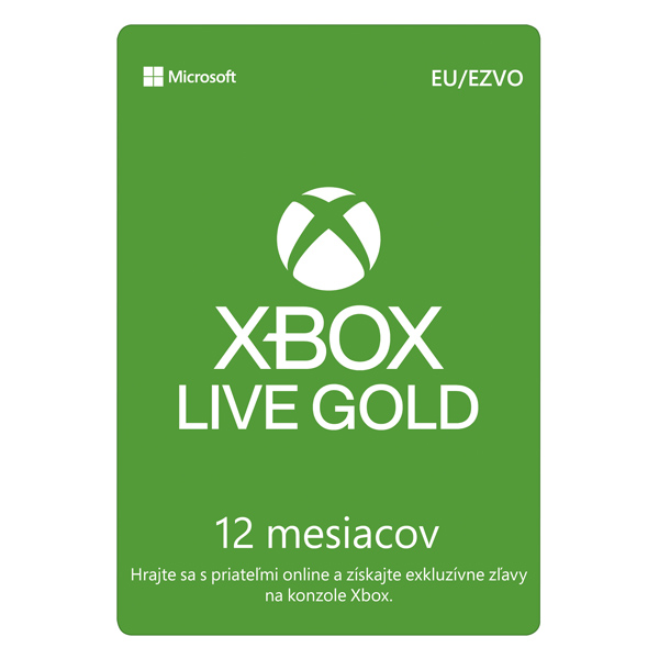Xbox Live GOLD 12 mesaèné predplatné CD-Key