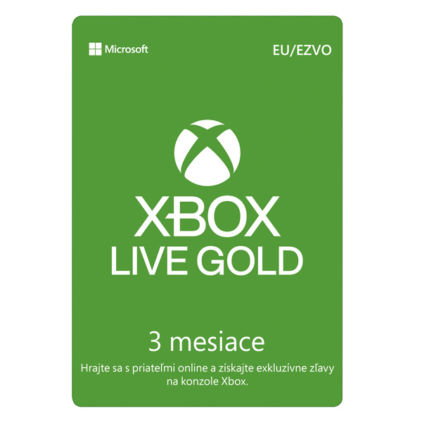 Xbox Live GOLD 3 mesaèné predplatné CD-Key