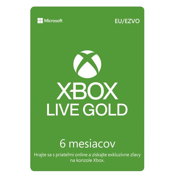 Xbox Live GOLD 6 mesačné predplatné CD-Key