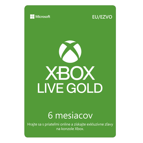 Xbox Live GOLD 6 mesaèné predplatné CD-Key