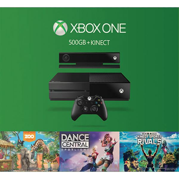 Xbox One 500GB + Kinect + Zoo Tycoon + Dance Central: Spotlight + Kinect Sports Rivals CZ