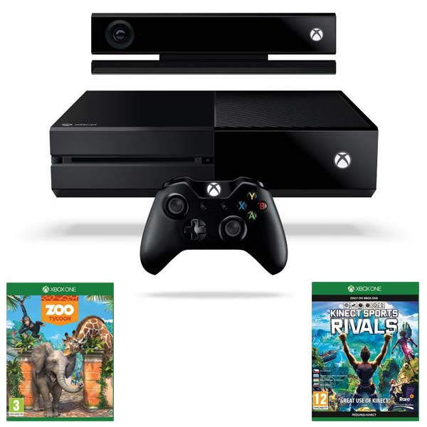 Xbox One 500GB + Kinect + Zoo Tycoon + Kinect Sports Rivals CZ