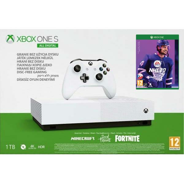 Xbox One S 1TB (All-Digital Edition + NHL 20 CZ)