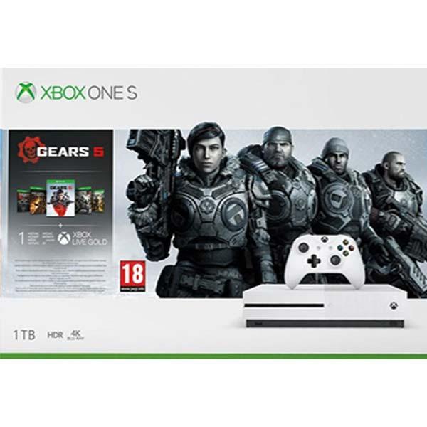 Xbox One S 1TB + Gears 5 + Gears of War 1,2,3,4 234-01029