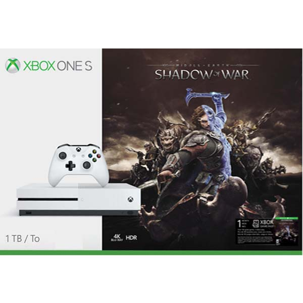 Xbox One S 1TB + Middle-Earth: Shadow of War