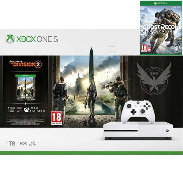 Xbox One S 1TB + Tom Clancy's The Division 2 CZ + Tom Clancy's Ghost Recon: Breakpoint CZ