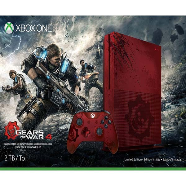 Xbox One S 2TB Red Gears of War 4 Limited Edition Bundle