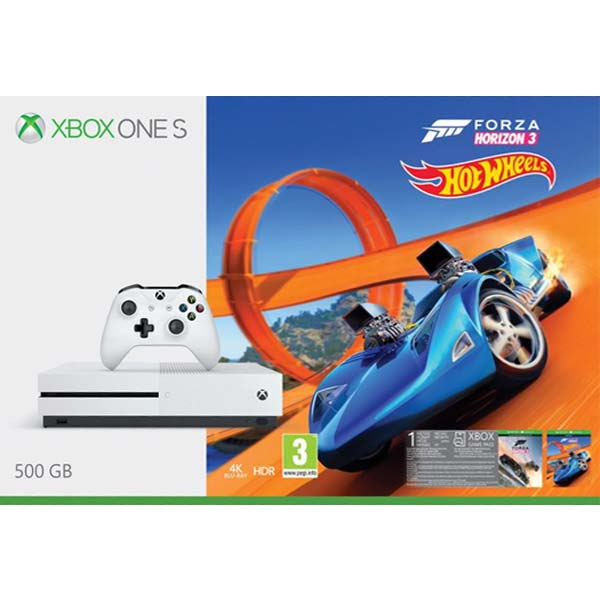 Xbox One S 500GB + Forza Horizon 3 + Forza Horizon 3: Hot Wheels