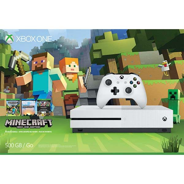 Xbox One S 500GB (Minecraft Favorites Pack)