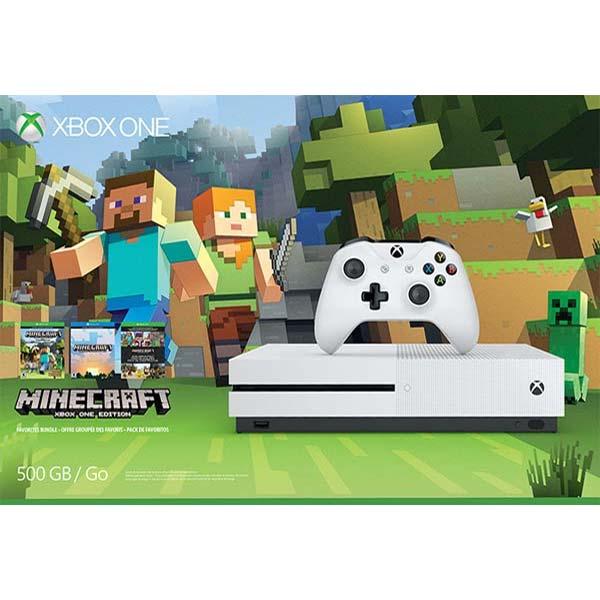 Xbox One S 500gb Minecraft - BAZÁR (použitý tovar , zmluvná záruka 12 mesiacov)
