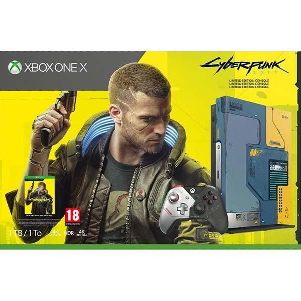 Xbox One X 1TB (Cyberpunk 2077 Limited Edition Bundle) - BAZÁR (použitý tovar , zmluvná záruka 12 mesiacov)