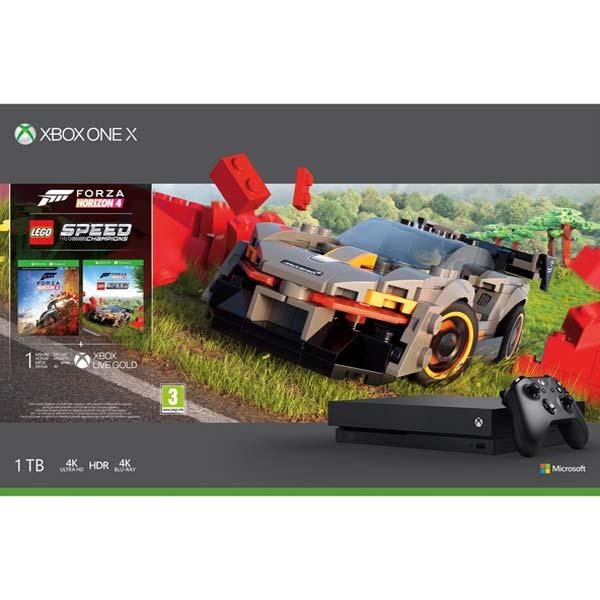 Xbox One X 1TB + Forza Horizon 4 CZ + Forza Horizon 4: LEGO Speed Champions CYV-00468