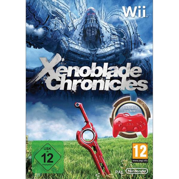 Xenoblade Chronicles + Classic Controller Pro, red