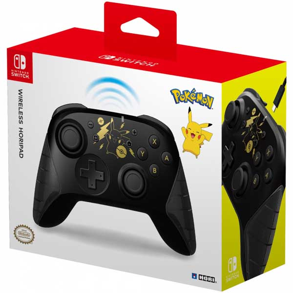 HORI Wireless Horipad rechargable Controller for Nintendo Switch (Pikachu Black Gold edition)