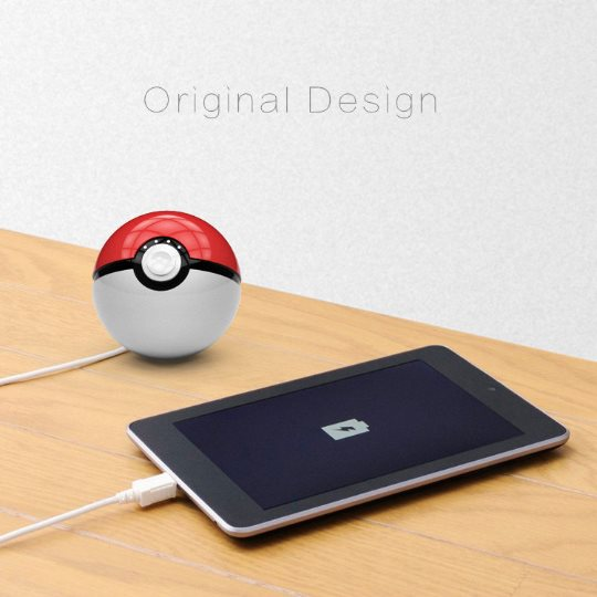 PowerBank Pokemon Ball - 12 000 mAh bielo-�erven�