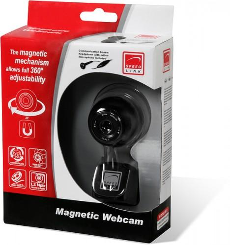 Speed-Link Magnetic Webcam 1,3 Megapixel, black