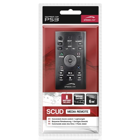Speed-Link Scud Media Remote for PS3, black