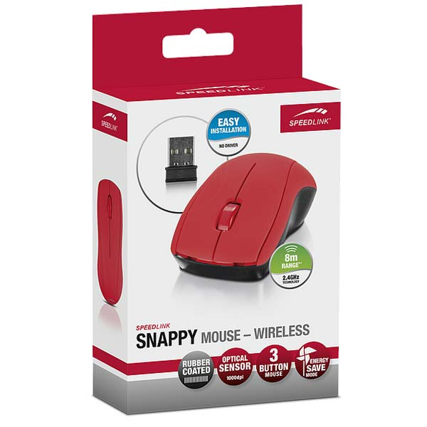 Speed-Link Snappy Mouse Wireless USB, red