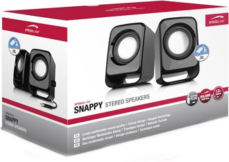 Speed-Link Snappy Stereo Speakers, black