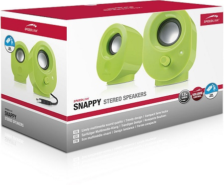 Speed-Link Snappy Stereo Speakers, green