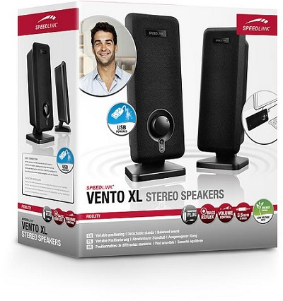 Speed-Link Vento XL Stereo Speakers, black