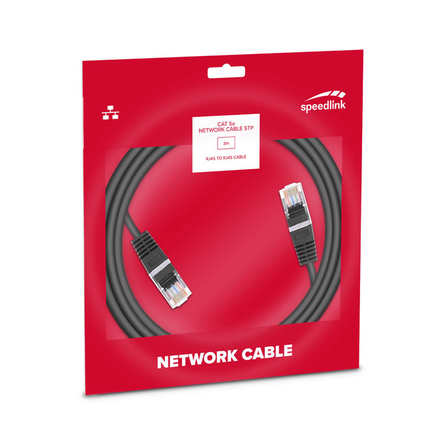 Speedlink CAT 5e Network Cable STP, 3 m Basic