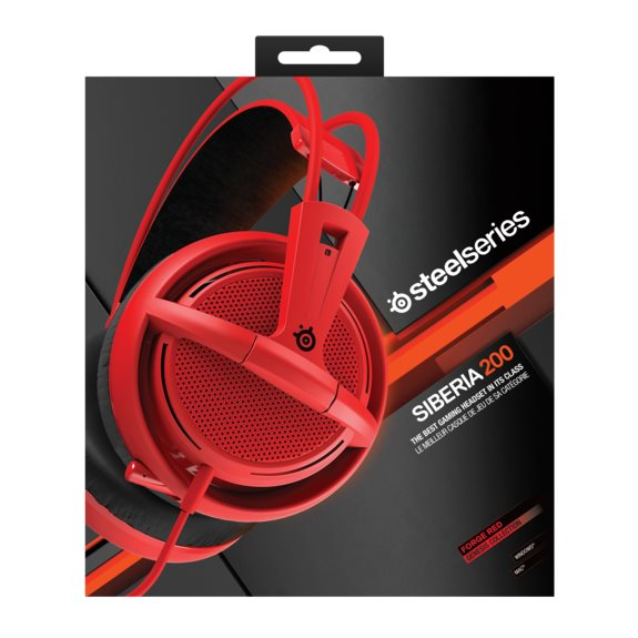 SteelSeries Siberia 200, forged red