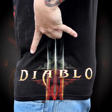 Tričko Diablo 3: Burning L