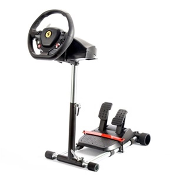 Wheel Stand Pro DELUXE V2, racing wheel and pedals stand for Thrustmaster SPIDER, T80/T100,T150,F458/F430, black