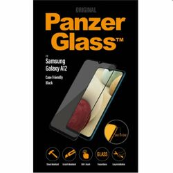 Ochranné temperované sklo PanzerGlass Case Friendly pre Samsung Galaxy A12 - A125F, čierne na pgs.sk