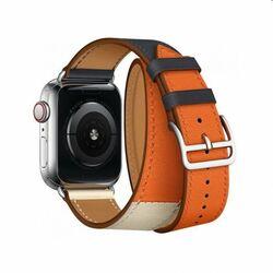 Remienok z teľacej kože (dlhý) COTEetCI pre Apple Watch 42/44m,modro/oranžový na pgs.sk