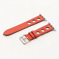 Kožený dierovaný remienok COTEetCI pre Apple Watch 38/40mm, červený na pgs.sk