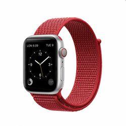 Nylonový remienok COTEetCI Magic Tape pre Apple Watch 38/40mm, červený na pgs.sk