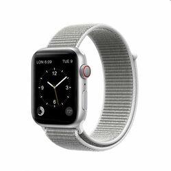 Nylonový remienok COTEetCI Magic Tape pre Apple Watch 38/40mm, strieborný na pgs.sk