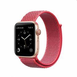Nylonový remienok COTEetCI Magic Tape pre Apple Watch 42/44mm, ružový na pgs.sk