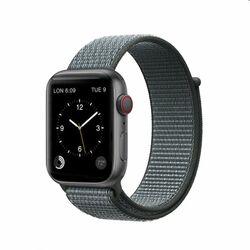 Nylonový remienok COTEetCI Magic Tape pre Apple Watch 42/44mm, šedý na pgs.sk
