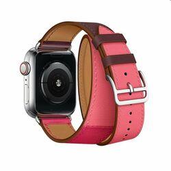 Remienok z teľacej kože (dlhý) COTEetCI pre Apple Watch 42/44m, oranžovo/ružový na pgs.sk
