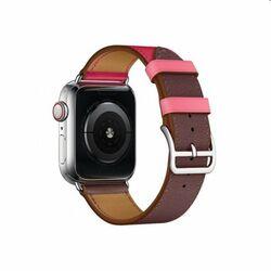Remienok z teľacej kože (krátky) COTEetCI pre Apple Watch 38/40m, fialovo/ružový na pgs.sk