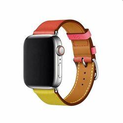 Remienok z teľacej kože (krátky) COTEetCI pre Apple Watch 38/40m, oranžovo/ružový na pgs.sk