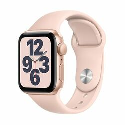 Apple Watch SE GPS, 40mm Gold Aluminium Case with Pink Sand Sport Band - Regular na pgs.sk