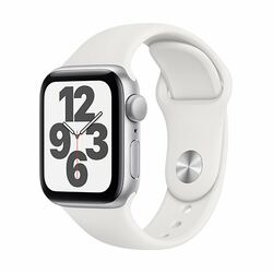 Apple Watch SE GPS, 44mm Silver Aluminium Case with White Sport Band - Regular na pgs.sk