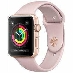 Apple Watch Series 3 GPS, 38mm | Gold, Trieda C - použité, záruka 12 mesiacov  na progamingshop.sk