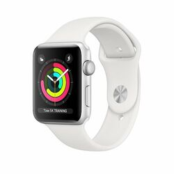 Apple Watch Series 3 GPS, 38mm Silver Aluminium Case with White Sport Band na pgs.sk