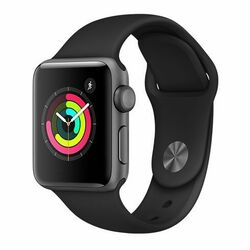 Apple Watch Series 3 GPS, 38mm Space Grey Aluminium Case with Black Sport Band na pgs.sk