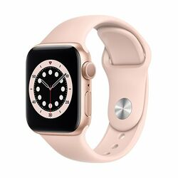 Apple Watch Series 6 GPS, 40mm Gold Aluminium Case with Pink Sand Sport Band - Regular na pgs.sk