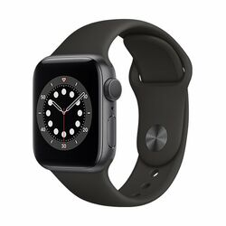 Apple Watch Series 6 GPS, 44mm Space Gray Aluminium Case with Black Sport Band - Regular na progamingshop.sk