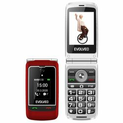 Evolveo EasyPhone FG, red + nabíjací stojan - SK distribúcia na pgs.sk