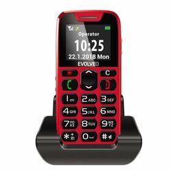 Evolveo EasyPhone, red + nabíjací stojan - SK distribúcia na pgs.sk